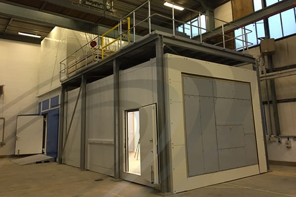 IAC Acoustics reverberation chamber external