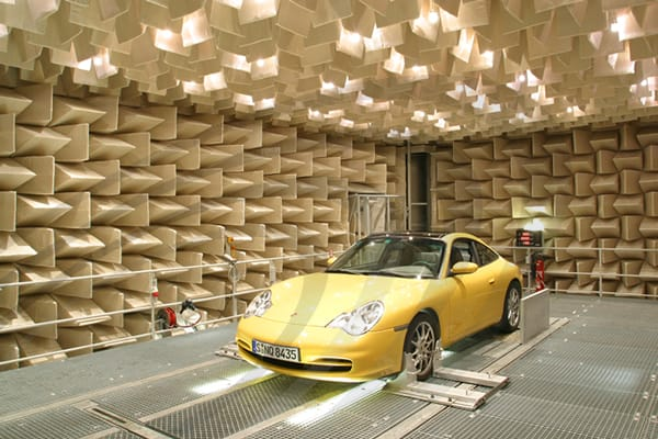 IAC Acoustics fully anechoic chamber vehicle test chamber
