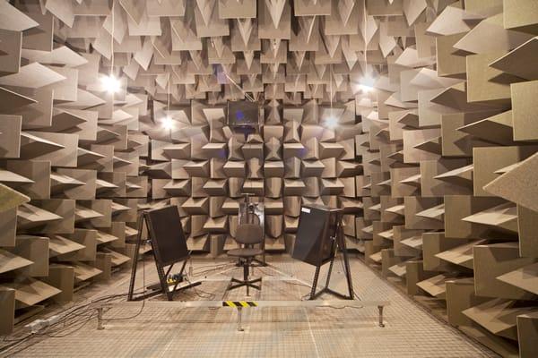 IAC Acoustics fully acoustic anechoic chamber setup demo
