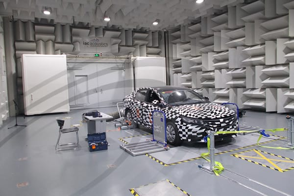 IAC Acoustics vsac vehicle semi-anechoic chamber test facility