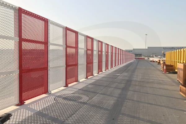 IAC Acoustics airport vertical mesh barrier vmb