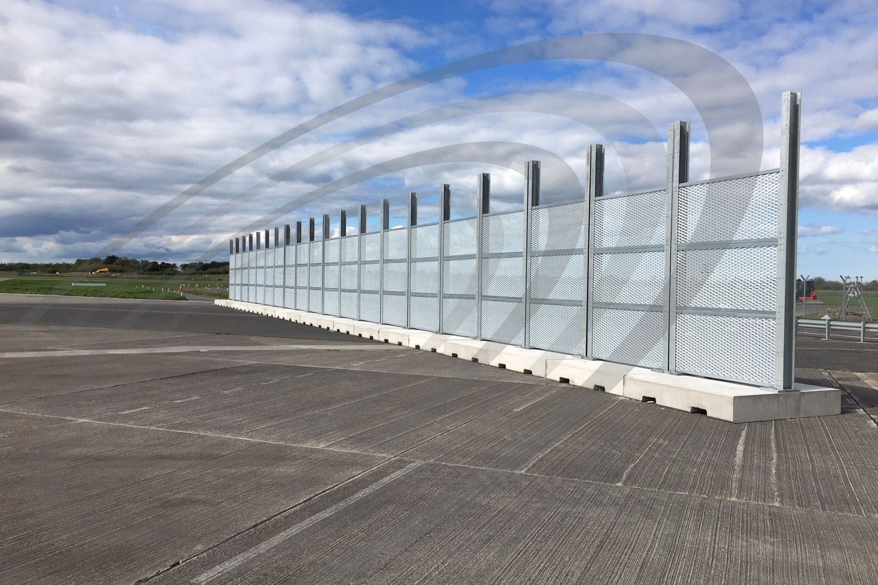 iac acoustics airport acoustic barrier full view