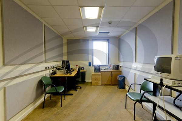 IAC Acoustics absorbatone panel hearing test room
