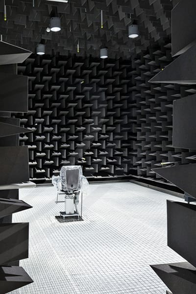 iac acoustics fully anechoic chamber doors open