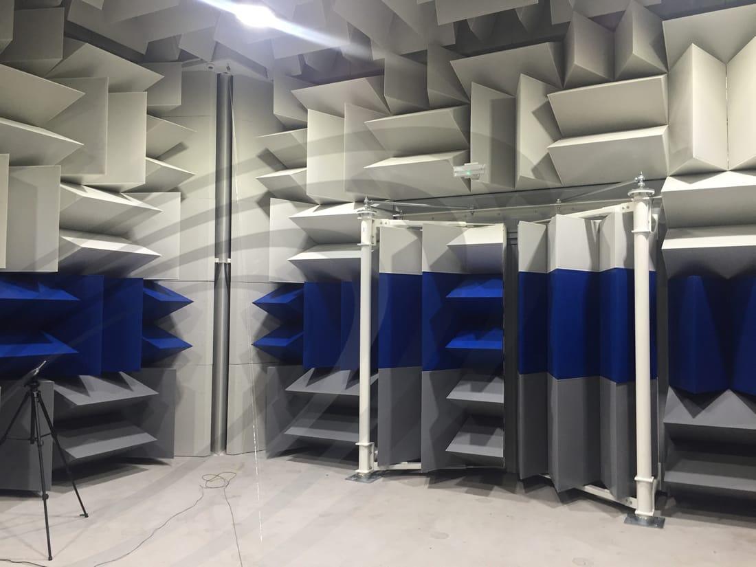 IAC Acoustics hemi anechoic chamber noise-lock acoustic door