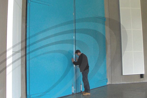 IAC Acoustics large steel acoustic door super noise-lock industrial and commectial