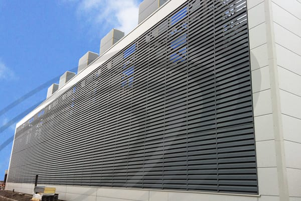 IAC Acoustics noishield and slimshield acoustic louvres