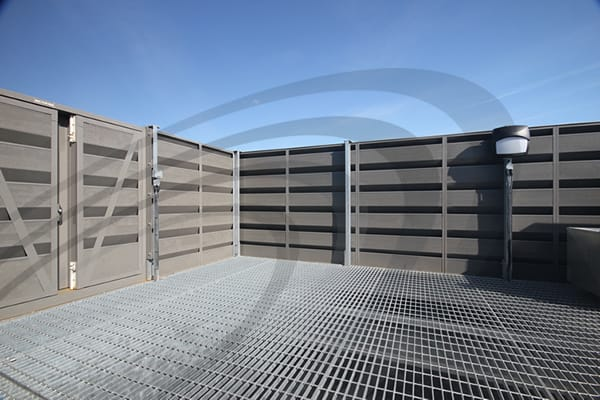 IAC Acoustics louvres noishield and slimshield install on building