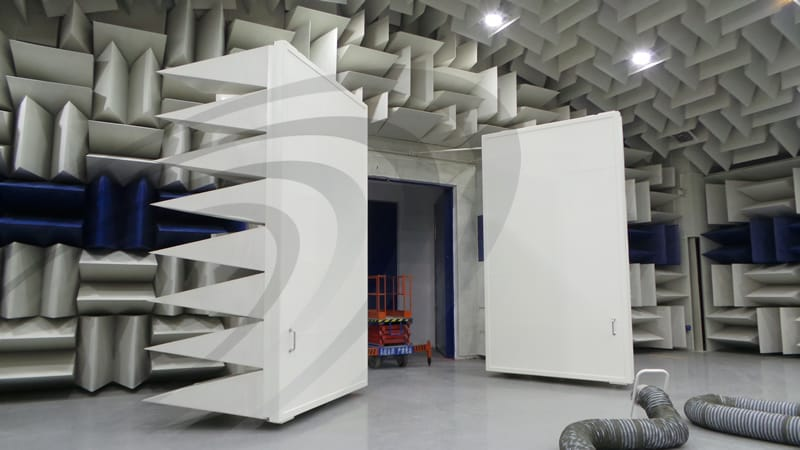 IAC Acoustics pass by chamber doors open