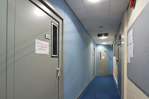 IAC Acoustics police hallway interview rooms