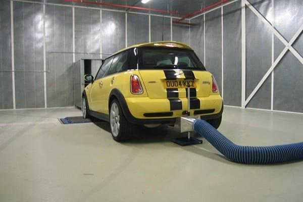 IAC Acoustics full sized vehicle acoustic test facility