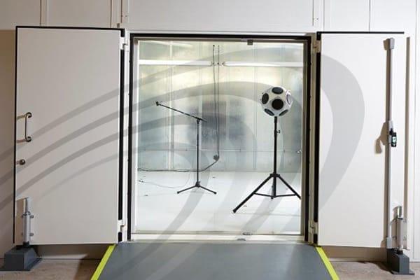 IAC Acoustics transmission suite noise-lock acoustic door inside test room